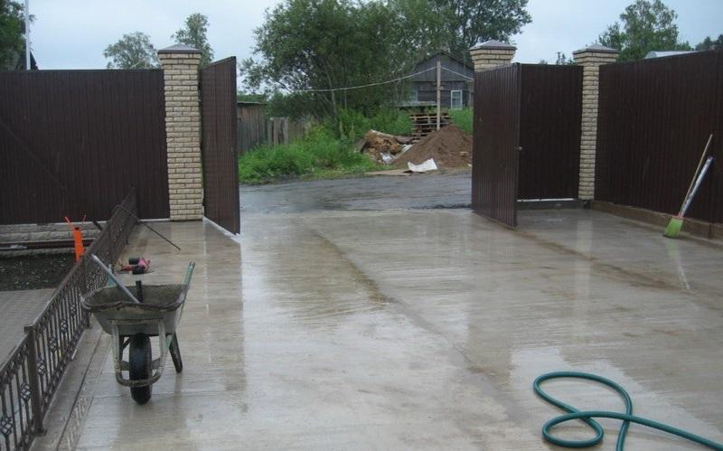 Бетон залить двор бетон м300 масса