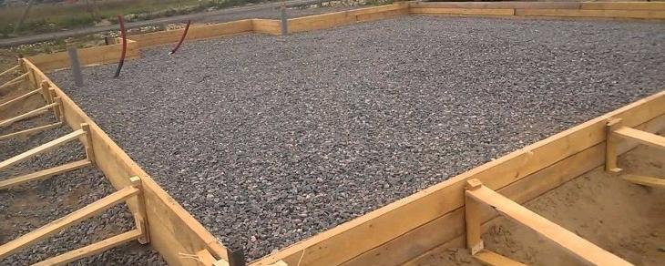 Бетон для фундамента из гравия учет производства бетона